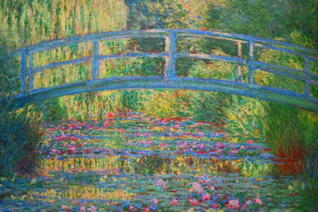 Claude monet artmanews for Garden painting images